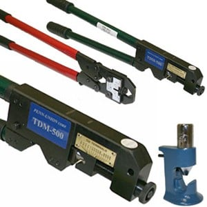 Large Lug Crimp Tools for 8 AWG up to 500 MCM