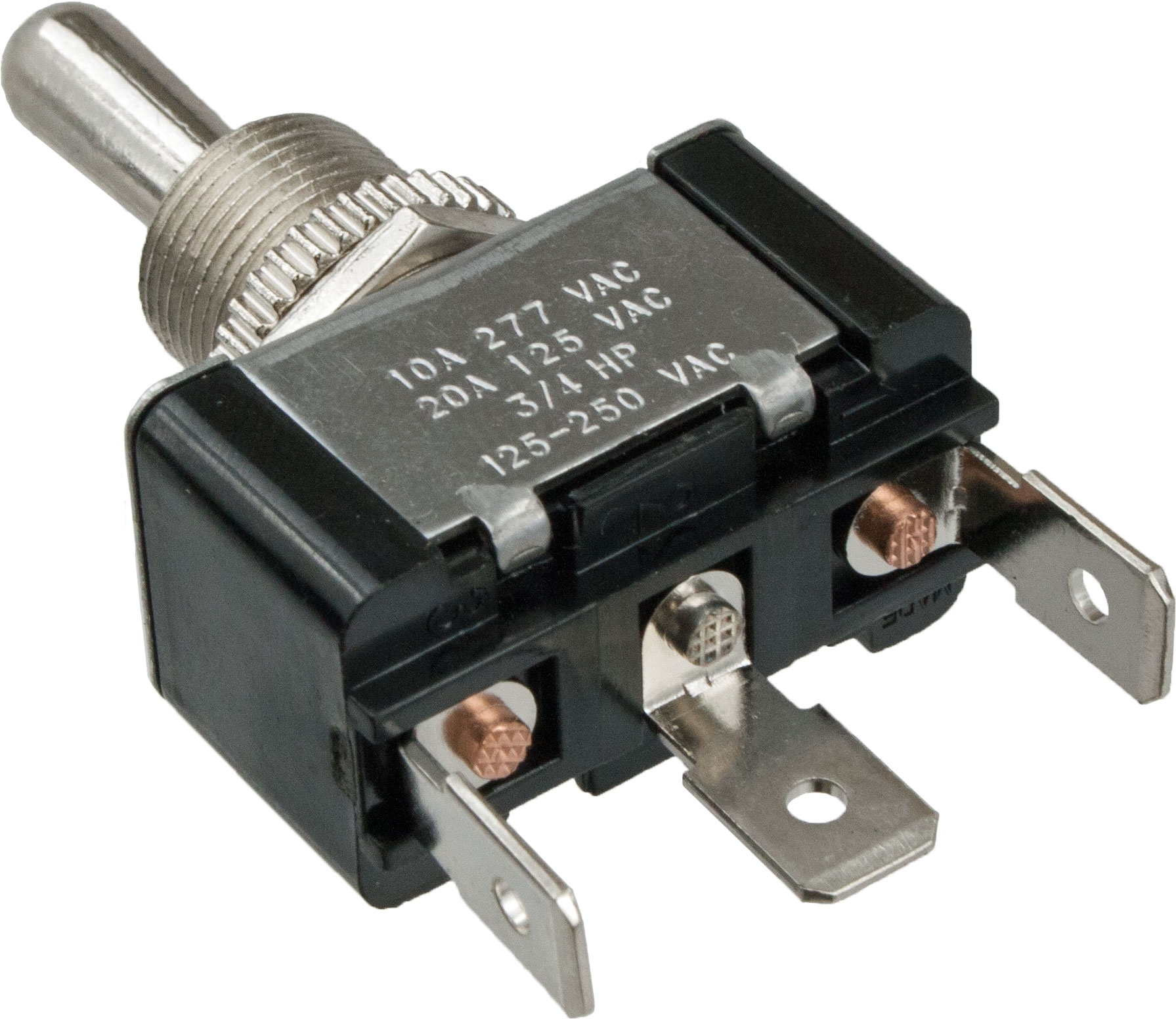 3 Blade Terminal Toggle Switch Momentary Mom On Off Spdt 12 Volt 25 Amp Metal Automotive Wiring 765062 Elecdirect