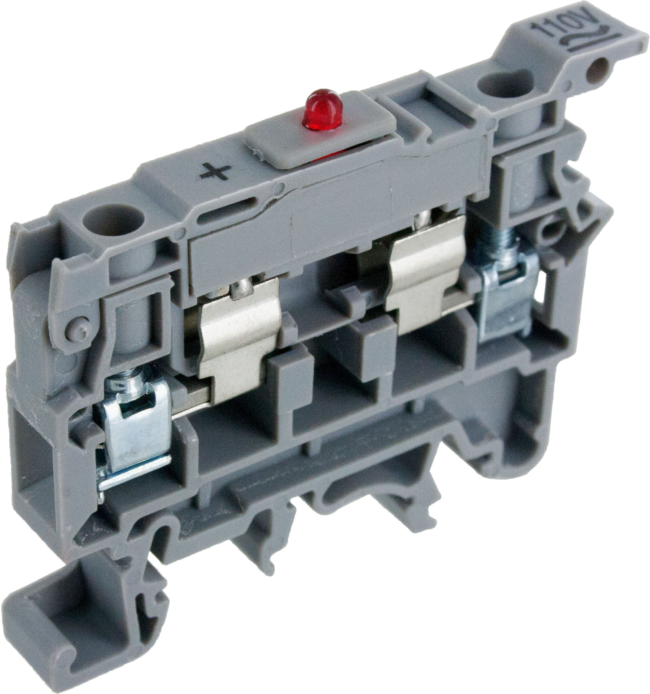 Gray Fuse Terminal Block With Led Csfl4ul 24 Elecdirect Cole Hersee Heavy Duty Spdt Momentary Toggle Switch 5502155021bx