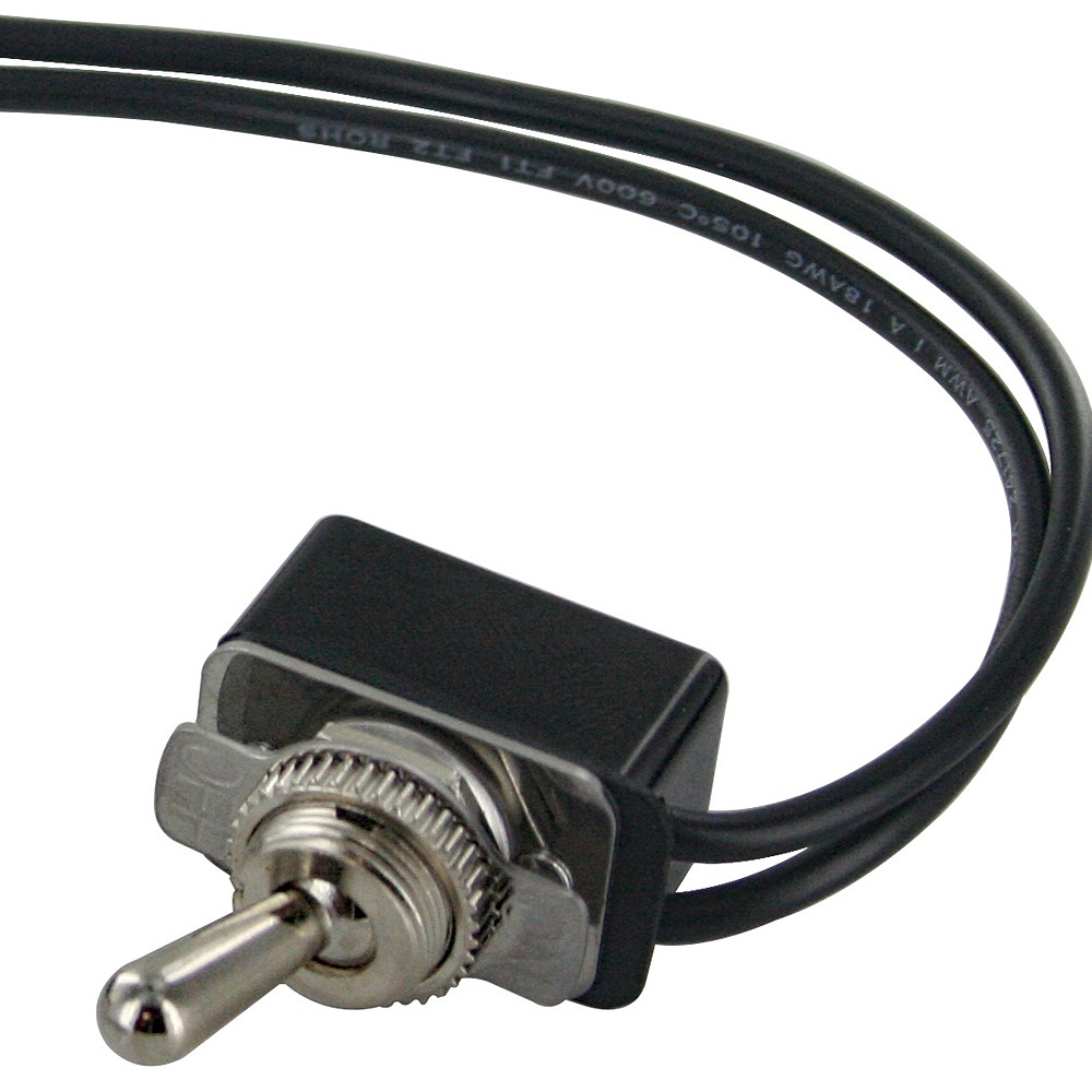 Spst Toggle Switch With Two 6 Inch Wire Leads On Off 765073 Wiring A Lights 2 Position Chrome Handle Light Duty 6a At 125vac 3a 250vac