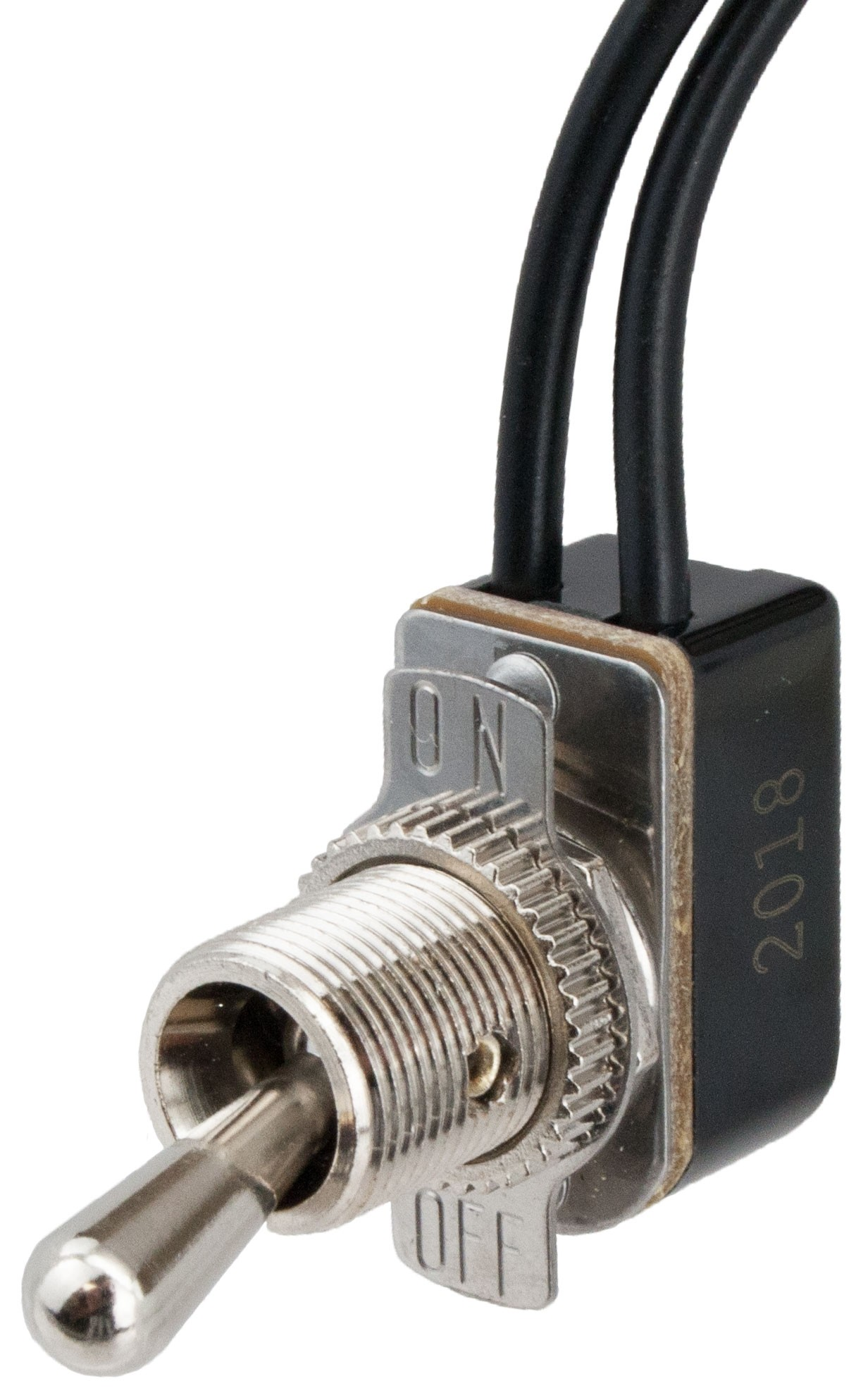 Spst Toggle Switch With Two 6 Inch Wire Leads On Off 765073 15 Amp Single Pole 2 Switches Back And Side Wiring White Be The First To Review This Product