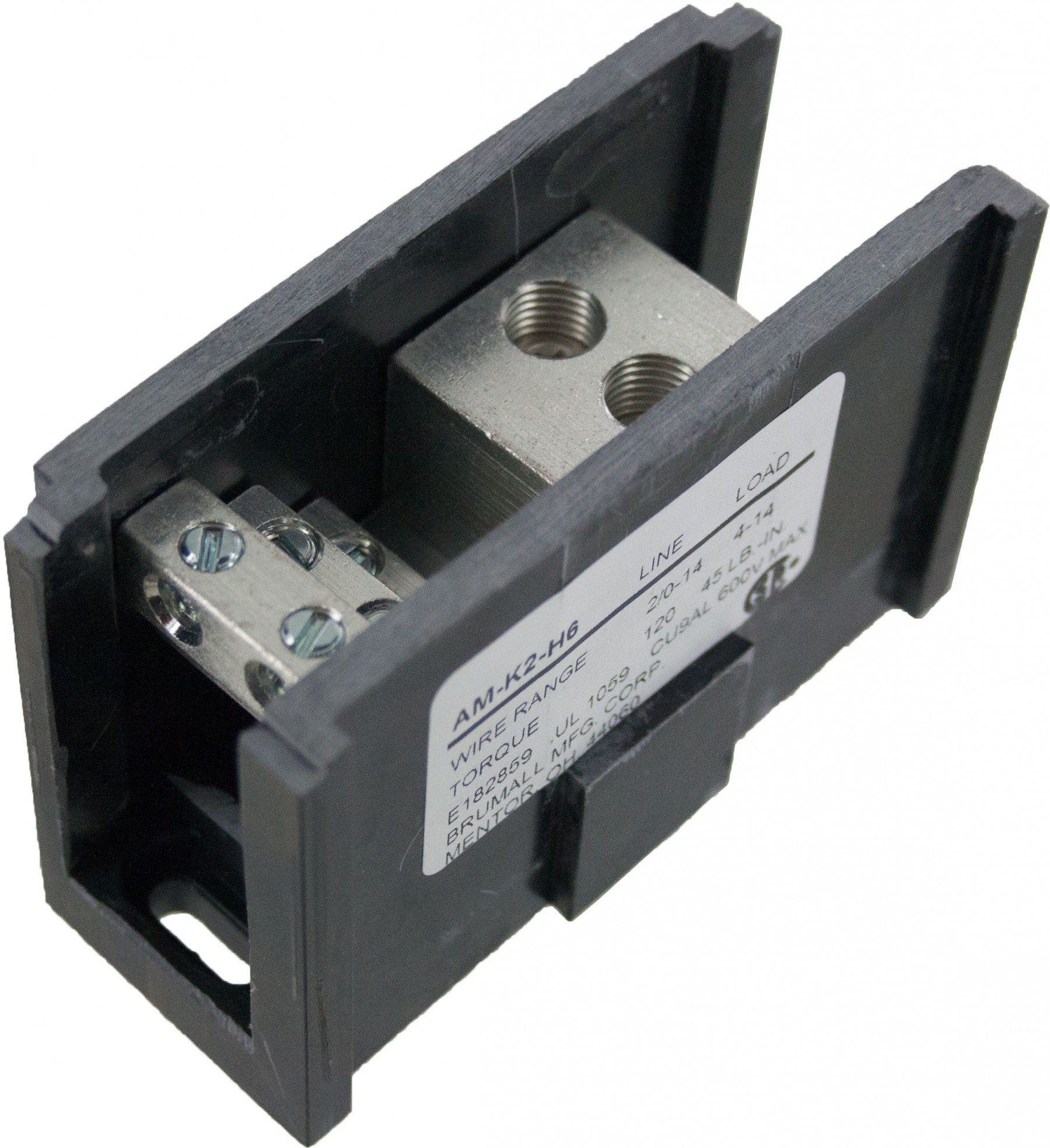 Power Distribution Blocks Double Run 14 2 0 Awg Adb262 01 Wiring Block Line Side Openings 0awg Load 6 4awg Am K2 H6