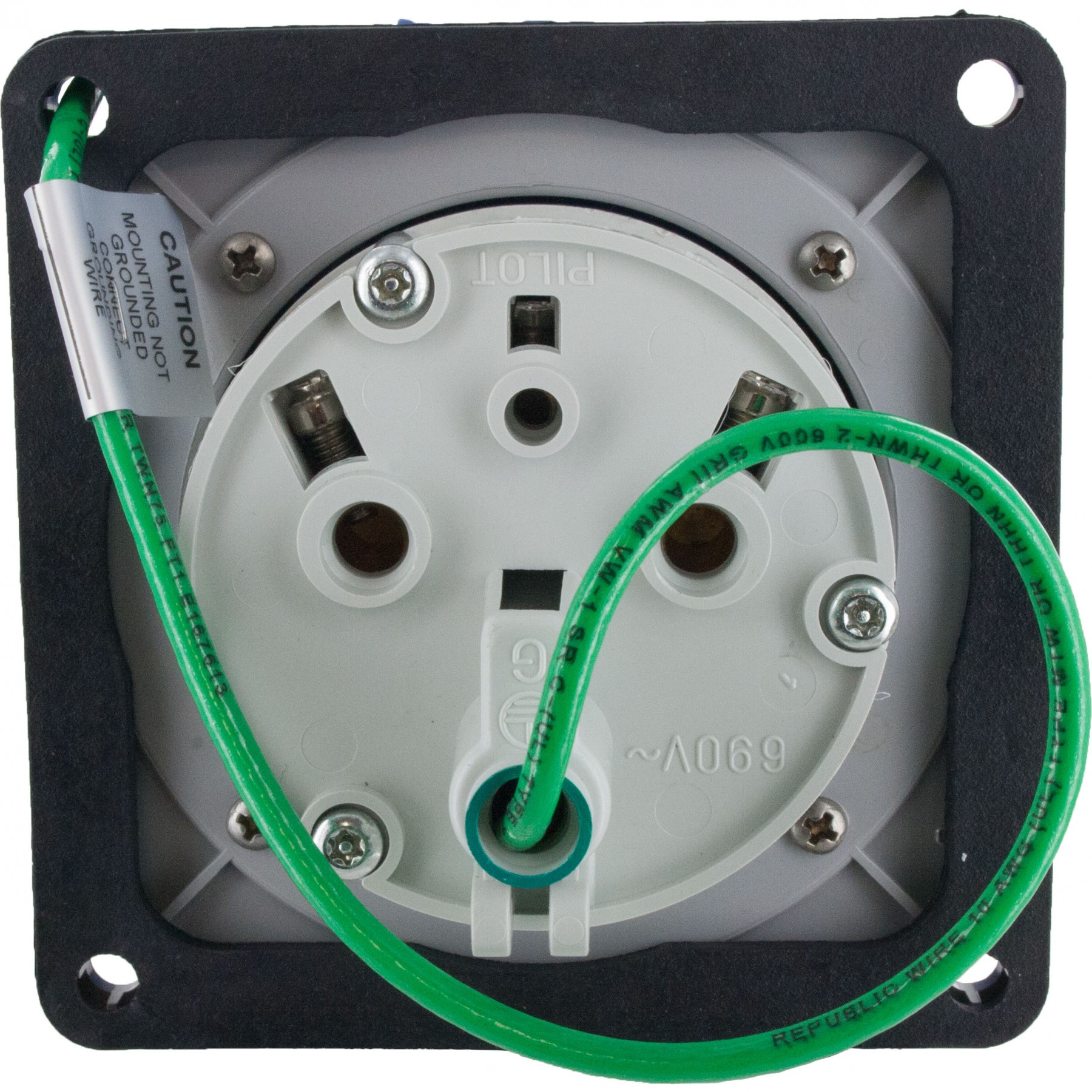 360r6w Pin And Sleeve Receptacle 60 Amp 2 Pole 3 Wire Elecdirect Wiring Receptacles In Series More Views