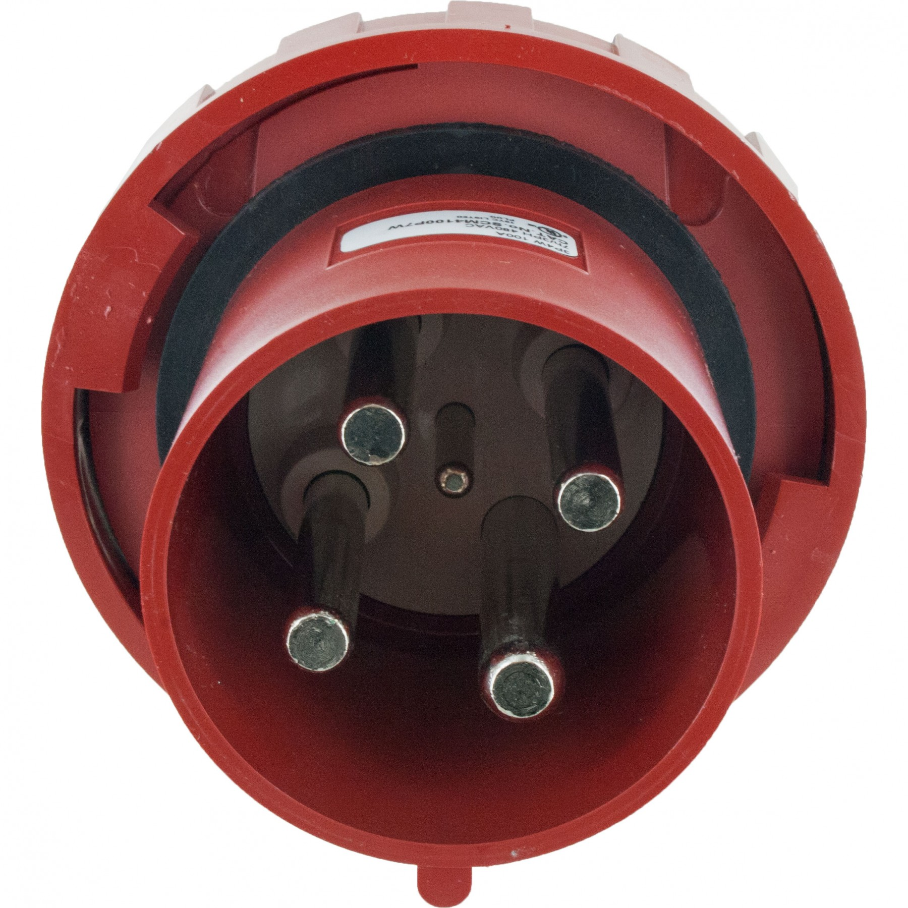 4100p7w pin and sleeve plug 100 amp 3 pole 4 wire   elecdirect 3 phase wiring colour code south africa #9