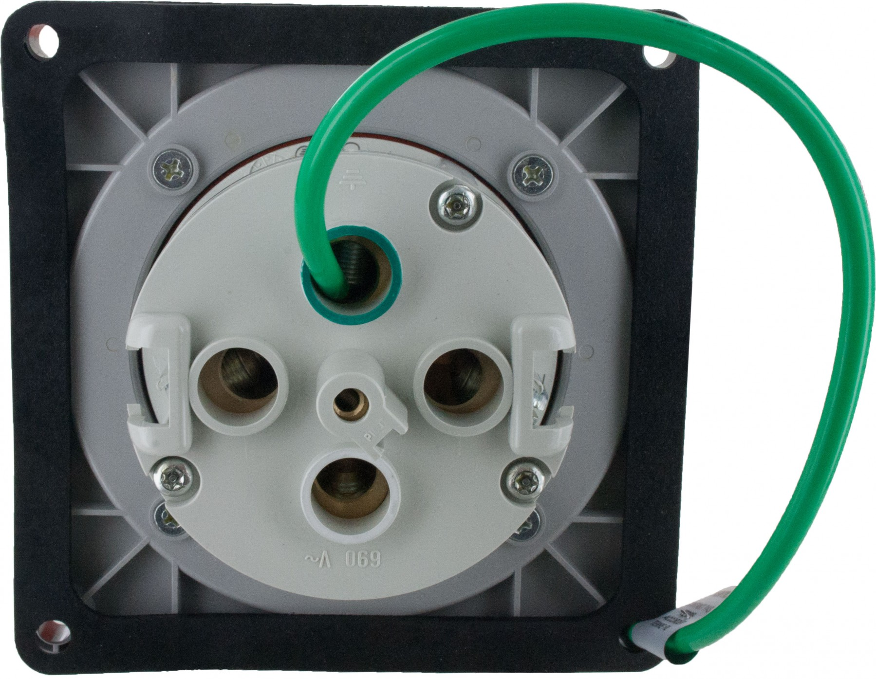4100r12w Pin And Sleeve Receptacle 100 Amp 3 Pole 4 Wire Elecdirect Wiring Receptacles More Views