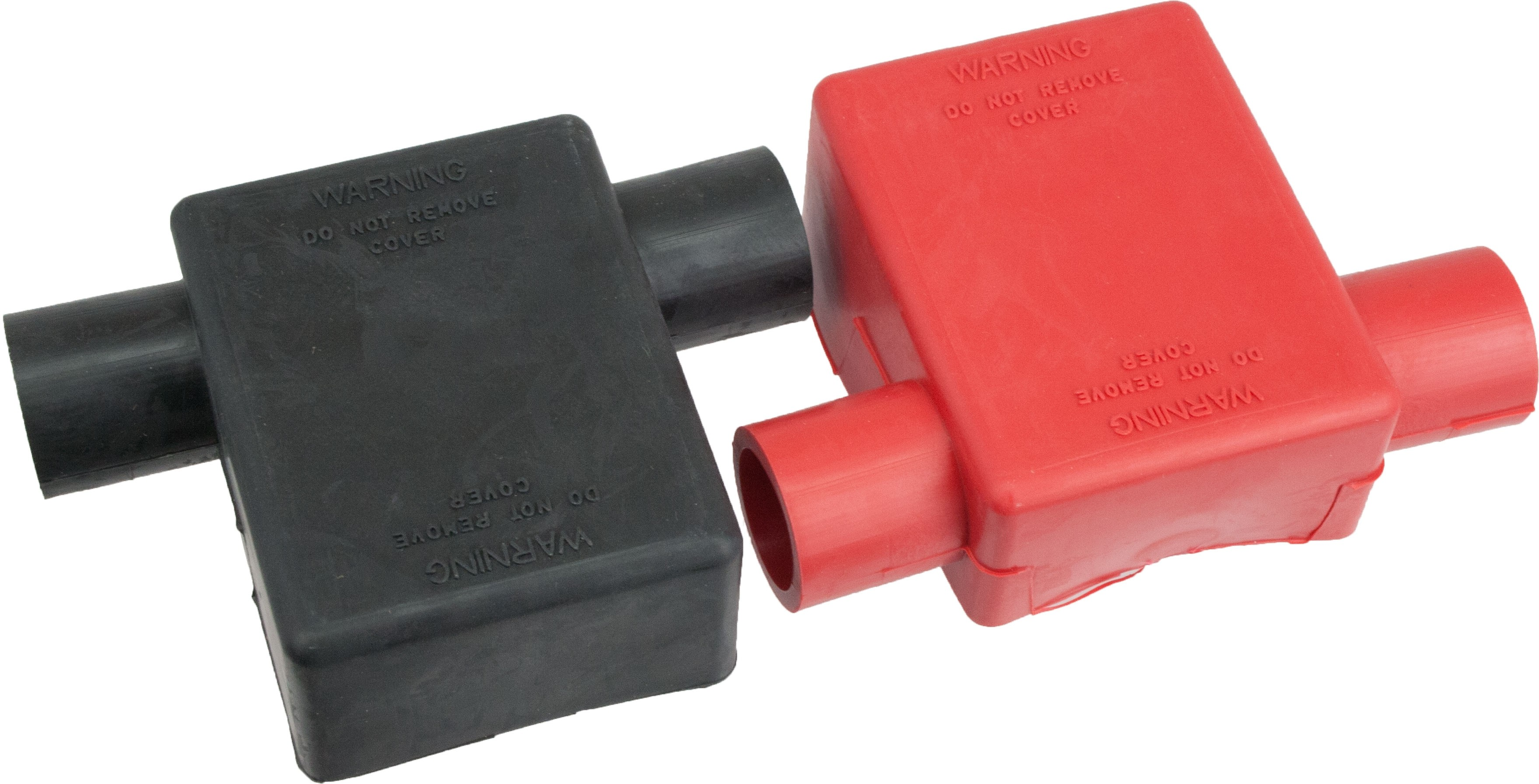 2 Pack of 2 to 2//0 AWG Red and Black Wing Nut Type Battery Terminal Cover Boots