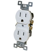 Duplex Receptacle Outlet White 15a 125v Nema 5 15r Elecdirect