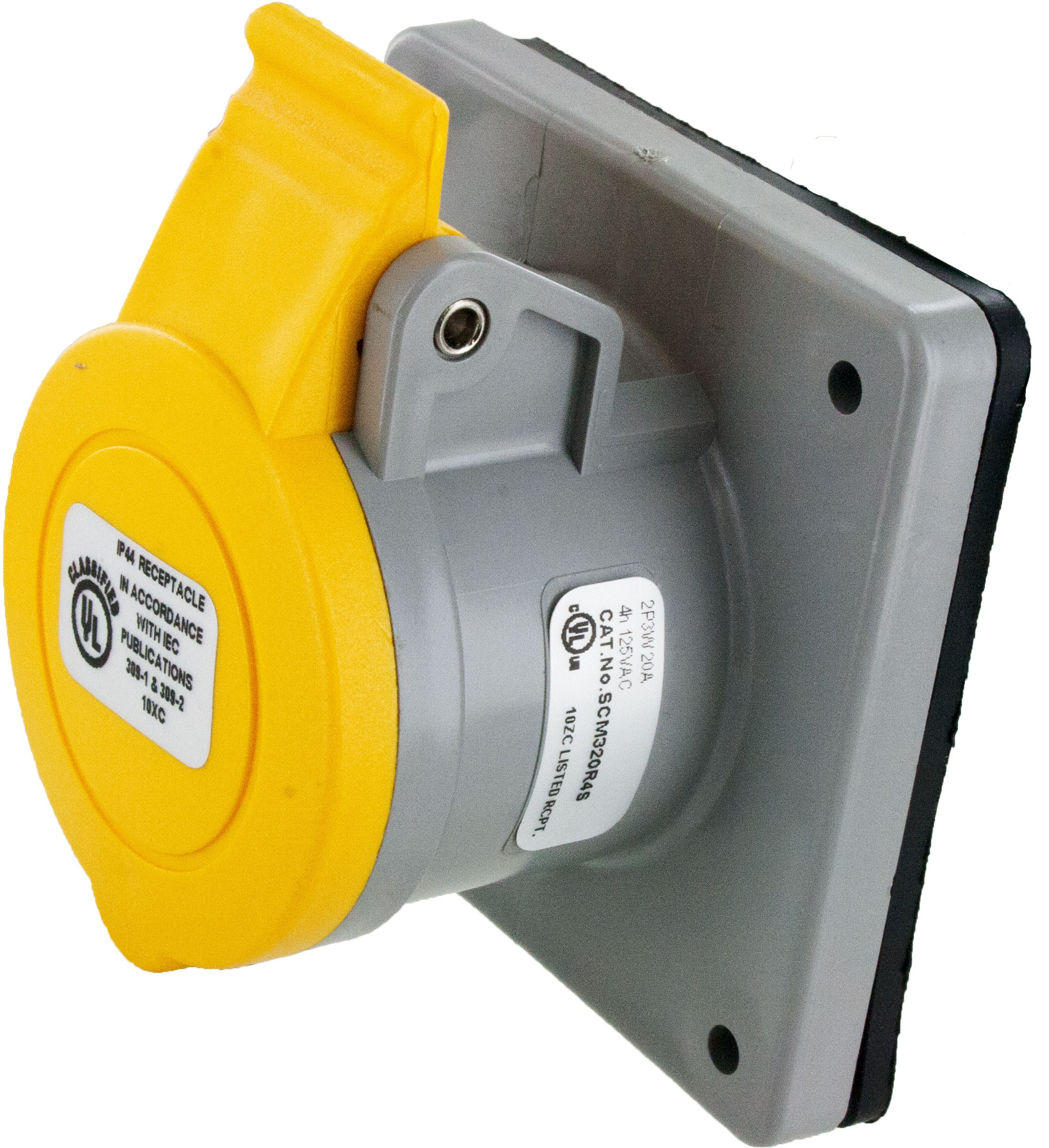 320R4S Pin And Sleeve Receptacle 20 Amp 2 Pole 3 Wire | ElecDirect