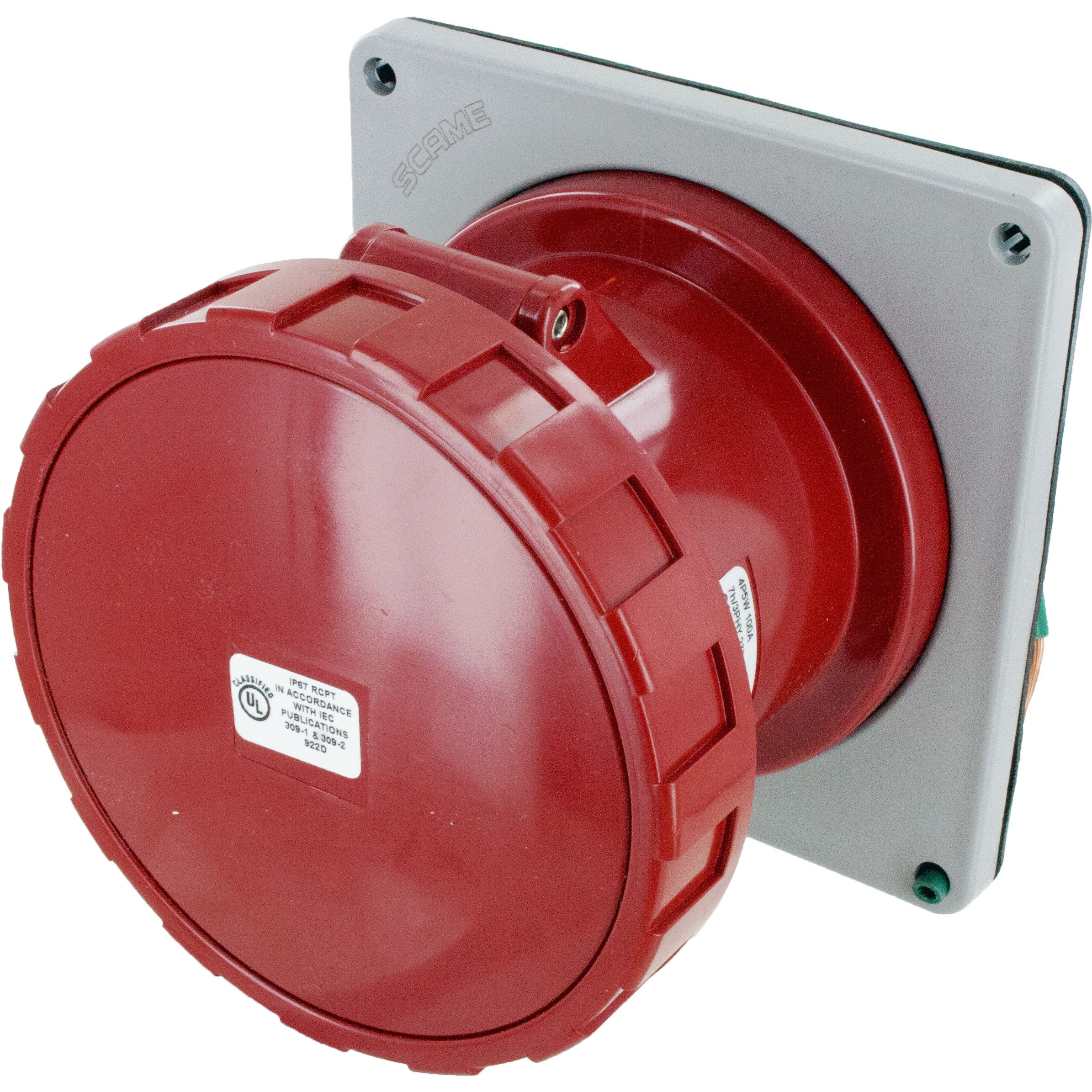 5100r7w Pin And Sleeve Receptacle 100 Amp 4 Pole 5 Wire