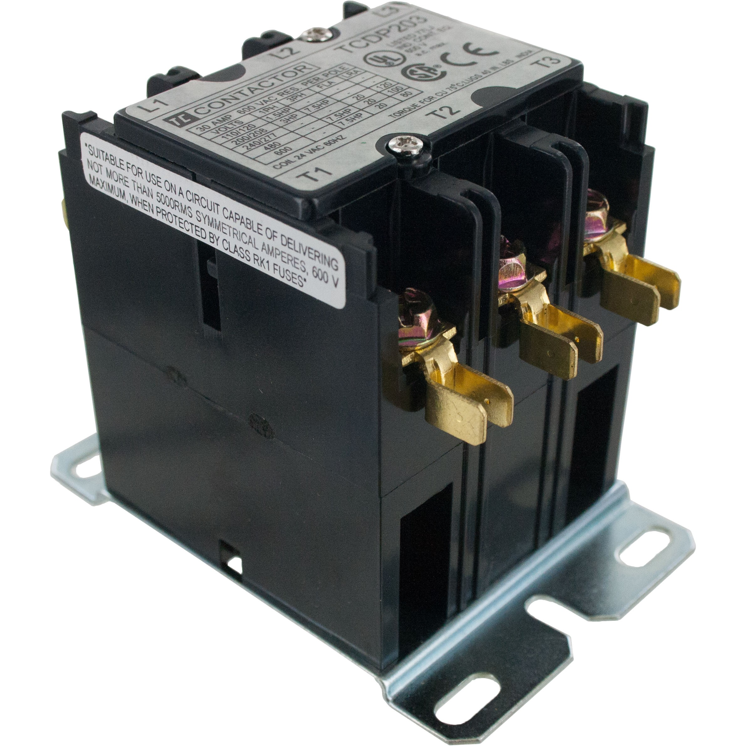 3 Pole Contactor 20 Amp 240vac Coil Elecdirect Micro Fuse Block With Box Lug