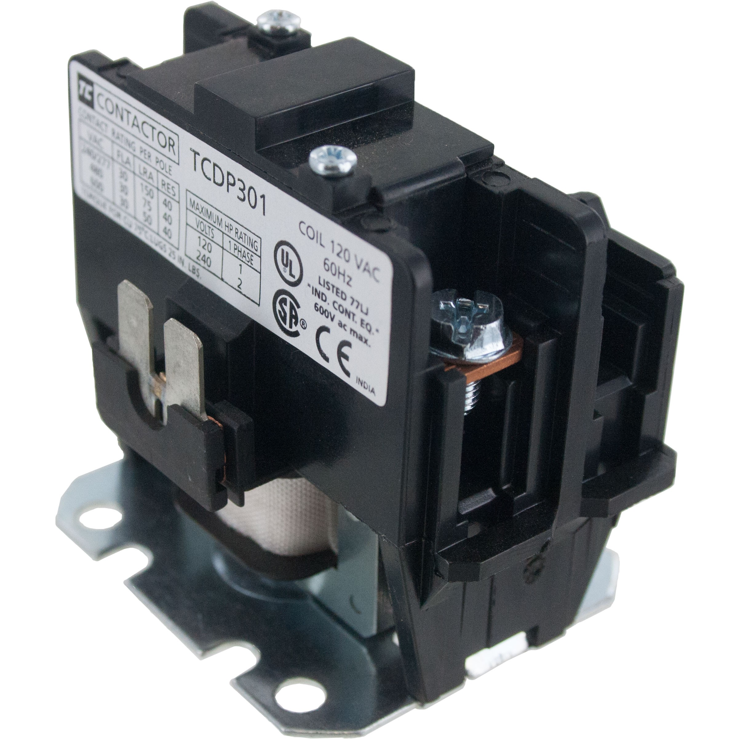 1 Pole Contactor 30 Amp 120vac Coil Elecdirect Nema 3 Phase Wiring