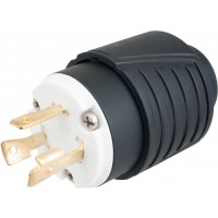 3-Pole 3-Wire NEMA L5-30P 125V 30 amp Industrial Twist Lock Male Plug Adapter