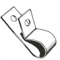 """ALL PURPOSE CLIP, ZINC PLATED STEEL, FITS 1/4"""" TUBE SIZE"""