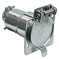 7-POLE SOCKET, CAR END, METAL