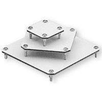 "MOUNTING PLATE FOR TK 1809 SERIES, 6.30 x 2.91"", PLASTIC LAMINATE, 1.0 THICK, W/SCREWS"