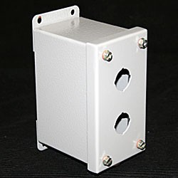 2 BUTTON MINITURE PUSHBUTTON ENCLOSURE (5.125x2.75x3.50) NEMA 12