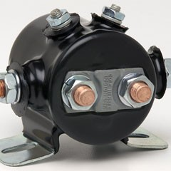DPST, CONTINUOUS DUTY, 12V, PVC COATED, 6STUD