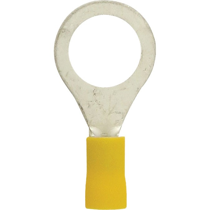 "Bulk Ring Connectors 12-10 Awg 1/2"" PVC Yellow"