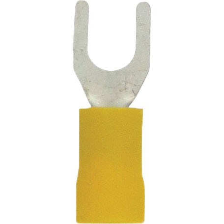 Fork Connectors 12-10 Awg #10 PVC Yellow