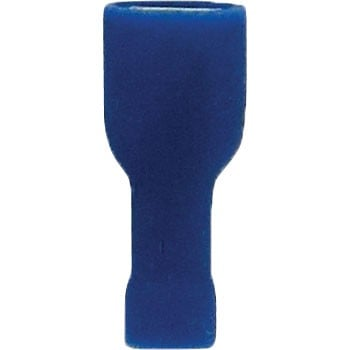 "Female Fully Insulated Slide Connectors 16-14GA .250"" PVC Blue"