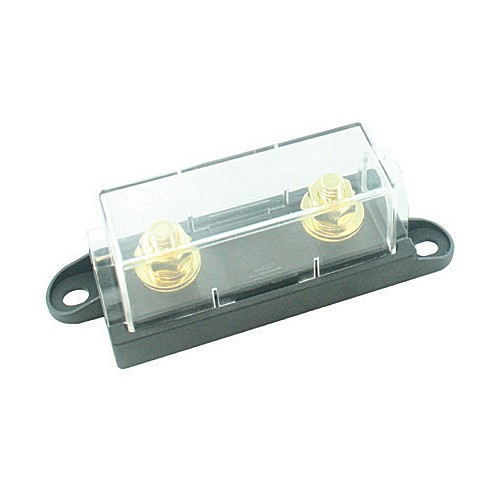 FUSE HOLDER FOR HIGH AMP SIZE BOLT ON FUSES, CLEAR COVER