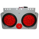 """TRAILER MODULE ASSEMBLY, TWO 4"""" DIAMETER ROUND, REFLECTOR & HARNESS, UNIVERSAL"""