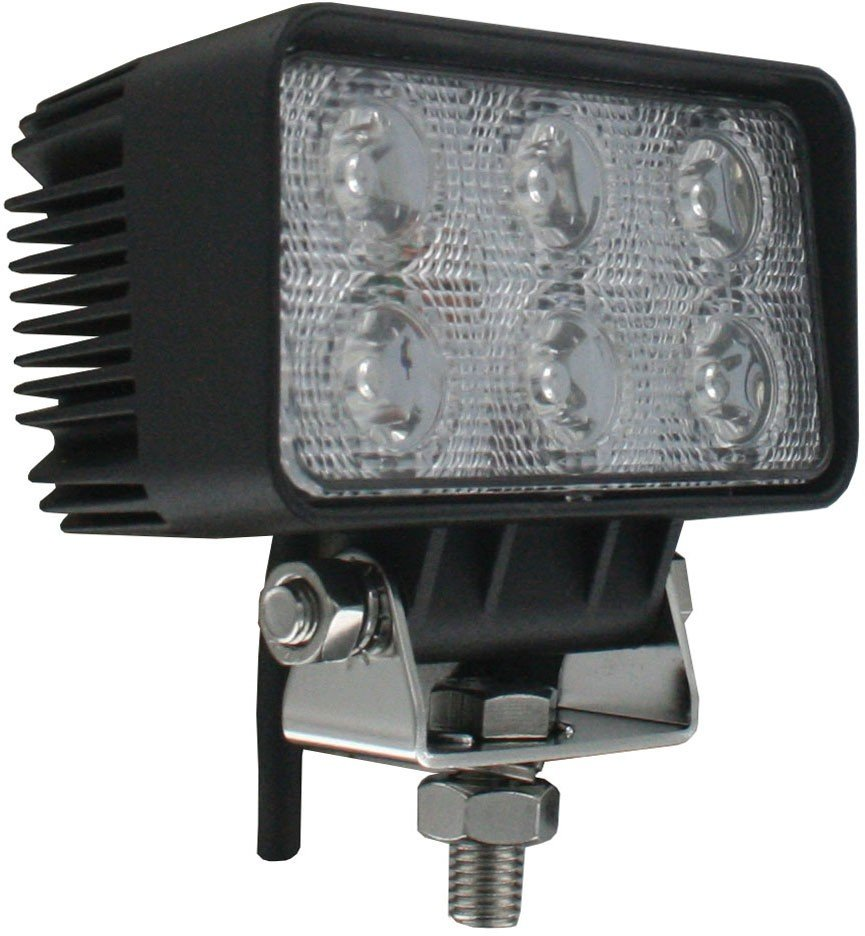 Rectangle Tractor Utility Lamp LED 1140 Lumens 18 Watts Angle