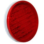 """4"""" DIAMETER ROUND, RED, STOP/TURN/TAIL, 56-DIODES, DOUBLE CONTACT"""