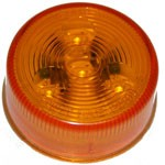 "2"" DIAMETER ROUND, AMBER, 4-DIODES, SINGLE CONTACT"