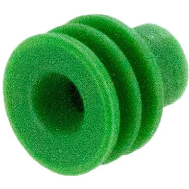 Delphi 12015323 OEM 20-18 Awg Green Silicone Seal 100 Pack Angle