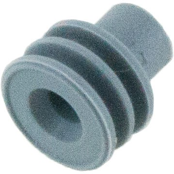 Delphi 12010293 OEM 16-14 Awg Grey Silicone Seal 100 Pack Angle