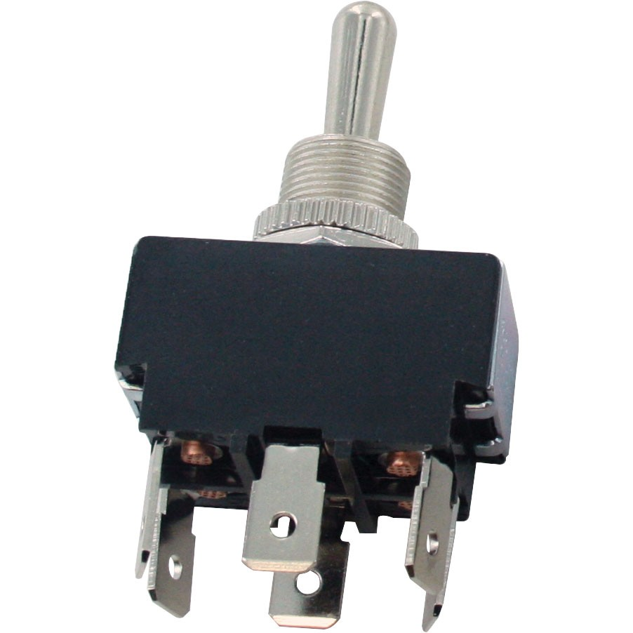 6 Blade Terminal Toggle Switch Momentary ON-OFF-ON DPDT