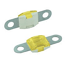 BOLT-ON MID AMP SIZE FUSES, 60 AMP YELLOW