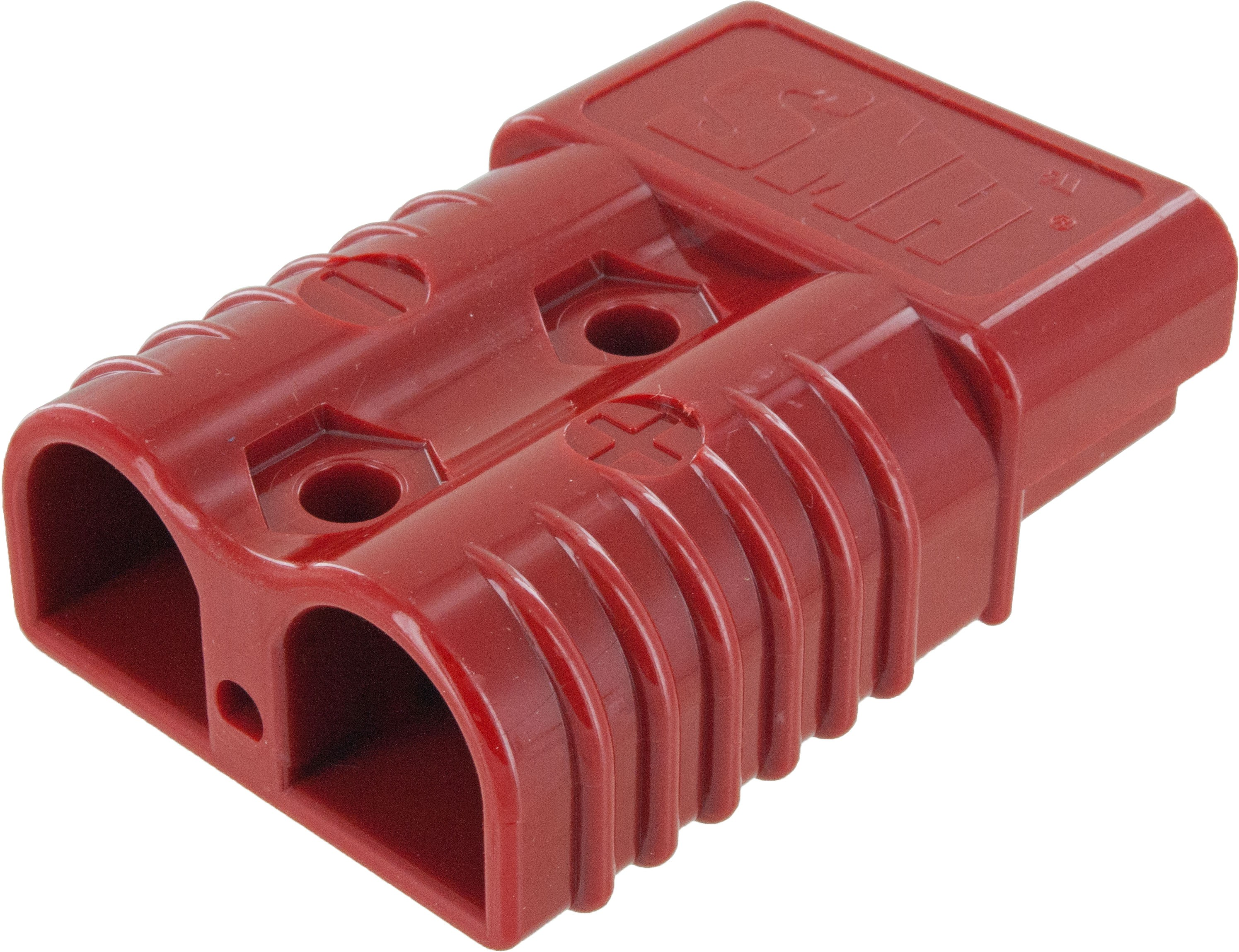Battery Connector Housing 4-1/0 Awg 175 Amp Red Front