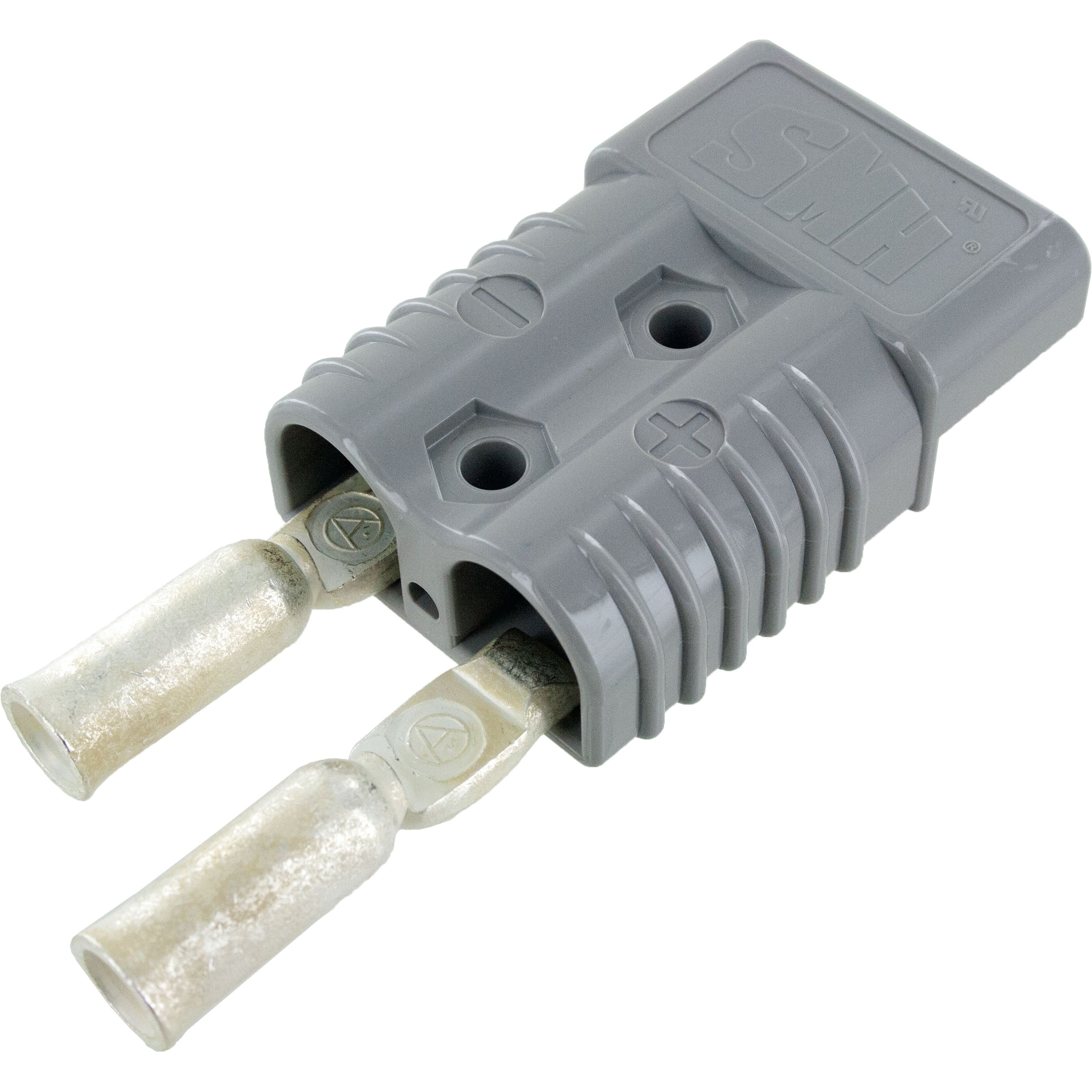 Battery Connector Kit 2-1 Awg 175 Amp Grey Front