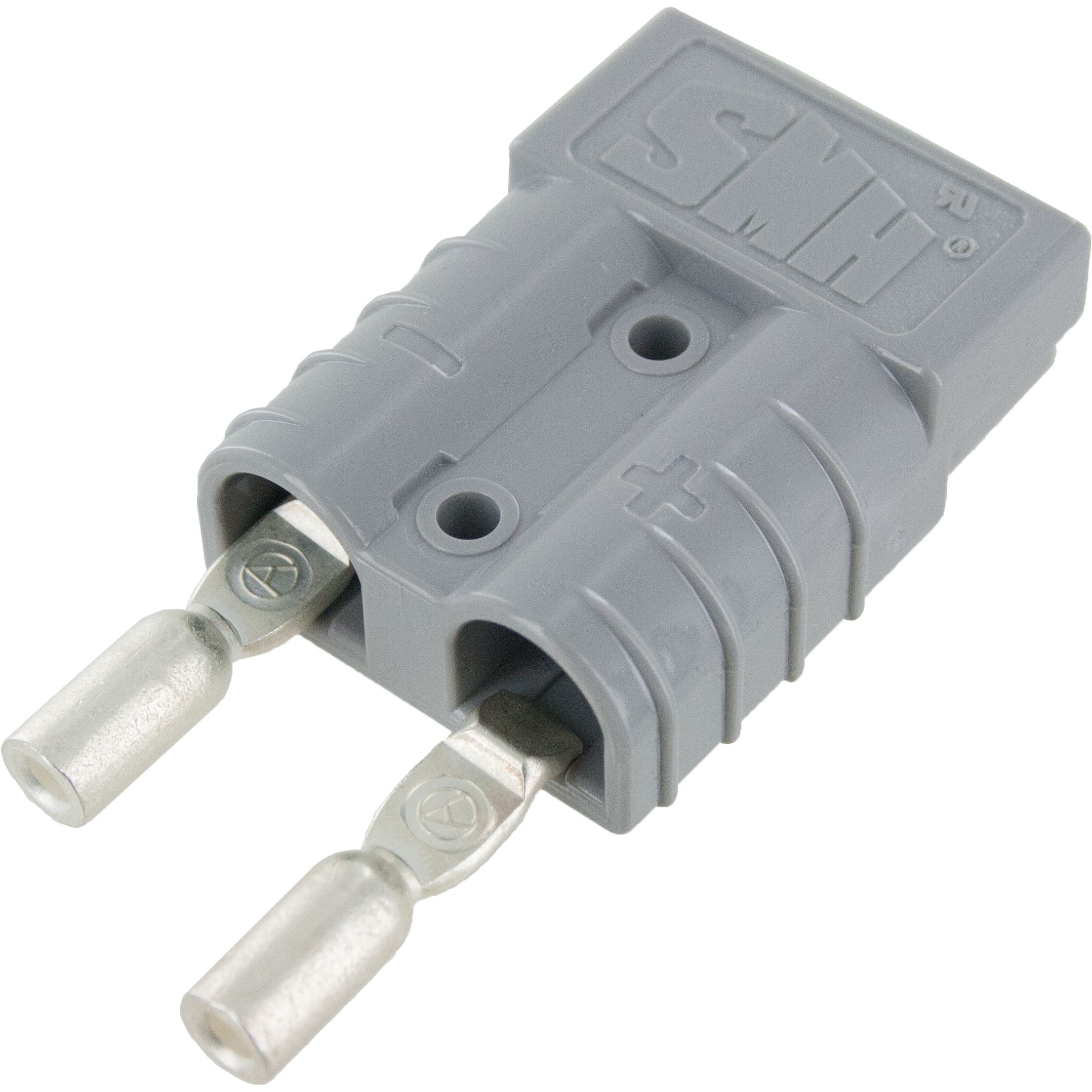 Battery Connector Kit 12-10 Awg 50 Amp Grey Front