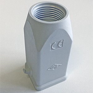 HOOD - 3 or 4P+Ground  10A MAX - 250V  TWO PEGS  TOP ENTRY, PLASTIC, PG 11(CK03V)