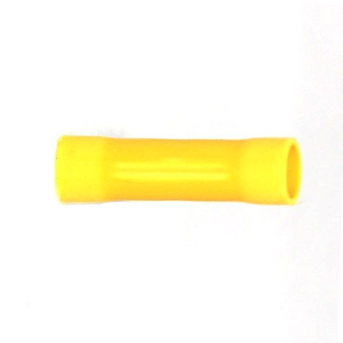 Crimp Butt Connector Splices PVC Yellow for 12-10 AWG Wire