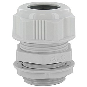 """DOME CAP CABLE GLAND M25  .51-.71""""  GRAY COMPLETE WITH O-RING & LOCKNUT"""