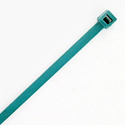 L750MD6C are 7 inch 50lb metal detectable cable ties teal 100pk. UL and CSA listed 7 inch 50lb metal detectable teal cable ties for bundling wire and cable.