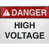 """ALUMINUM SAFETY SIGN """"DANGER - ELECTRICAL HAZARD KEEP OUT"""" (10""""x14"""")"""