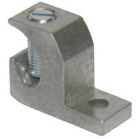 ALUMINUM LAY-IN LUG, TIN PLATED, 14-4, STEEL SLOT SCREW