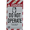 """WARNING TAGS """"DANGER - DO NOT OPERATE"""" BACK- """"ONLY THE INDIVIDUAL WHO SIGNED THE REVERSE SIDE MAY REMOVE THIS LOCK/TAG"""