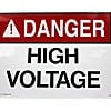 "ACRYLIC ADHESIVE SAFETY SIGN ""DANGER - HIGH VOLTAGE KEEP OUT"""