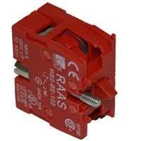 NORMALLY CLOSED CONTACT BLOCK, RED