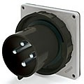 IP67/IEC309 PIN & SLEEVE INLET 20A  3 PHASE 600VAC  3 POLE 4 WIRE  WATERTIGHT