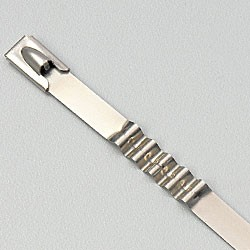 """10"""" 316 STAINLESS STEEL CABLE TIE 150LB SPRING BALL LOCK UNCOATED"""