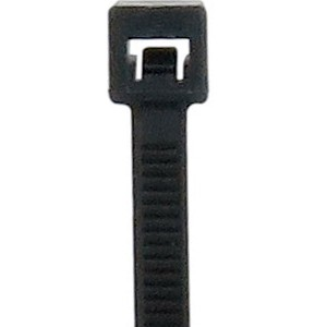 Bulk Black Cable Ties Light Duty 8 inch 40lb L-8-40-0-M
