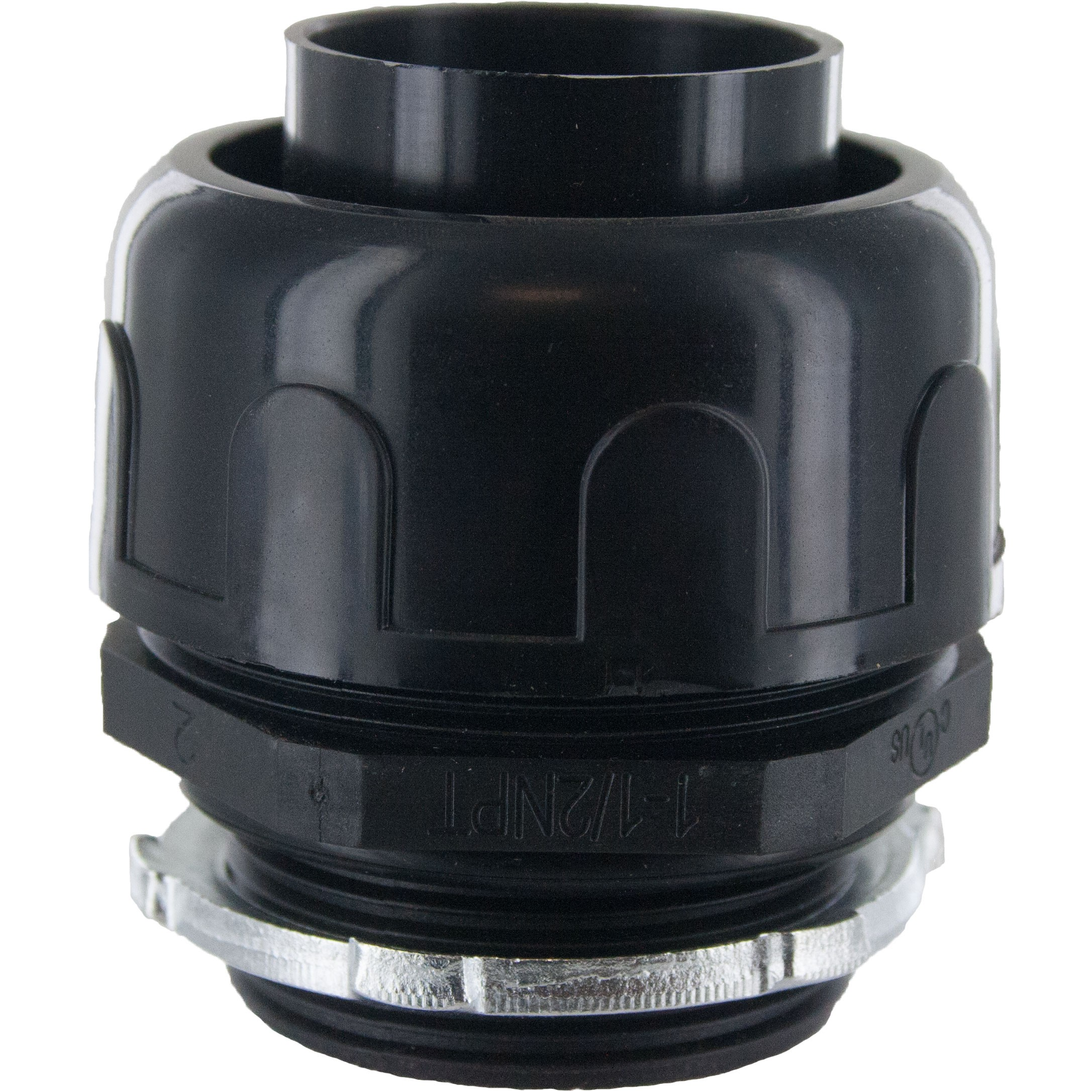 "1-1/2"" Liquid Tight Connector Black"