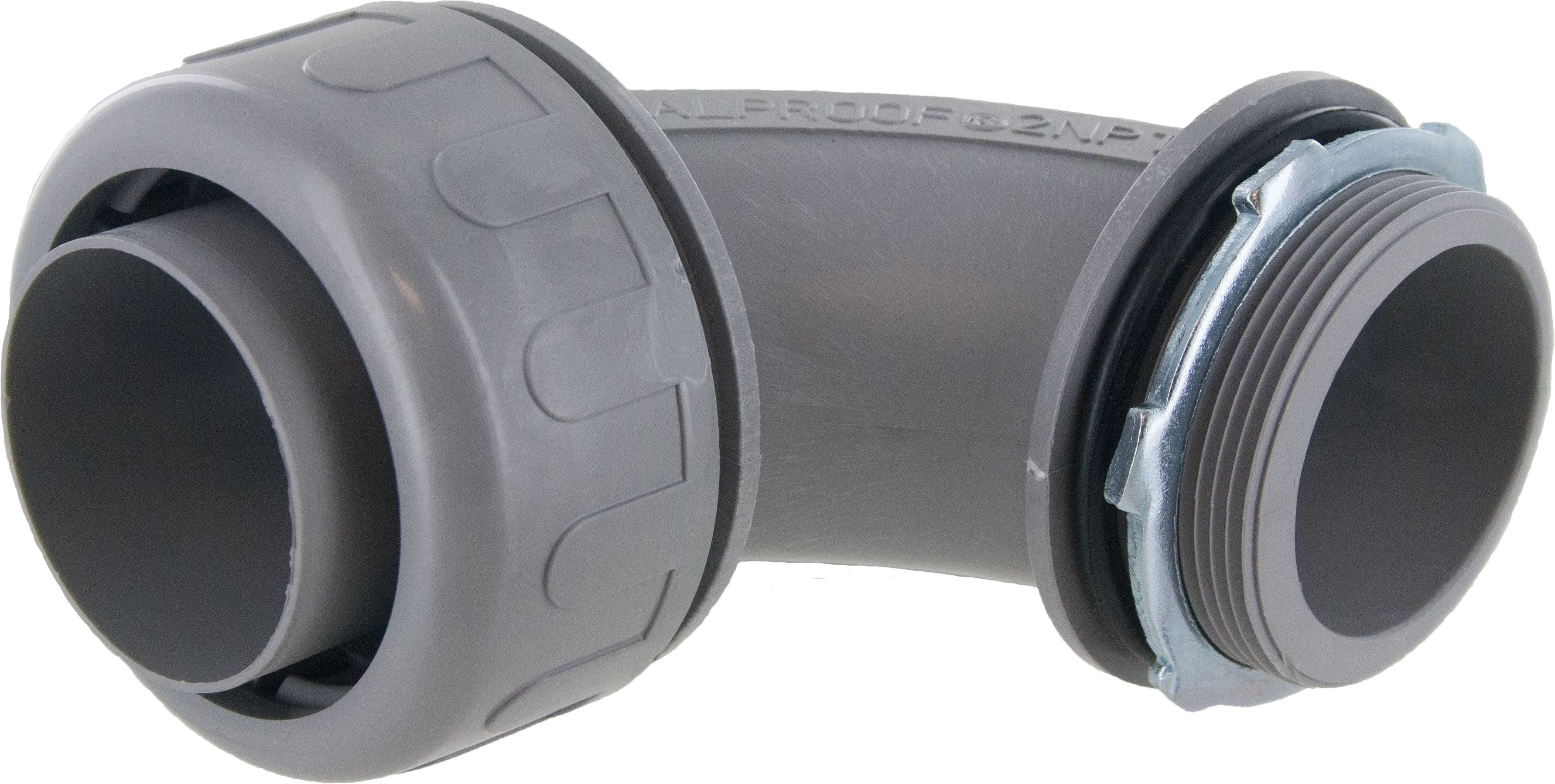 "2"" Liquid Tight 90 Degree Connector Gray"